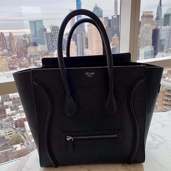 Celine Handbags - MINI LUGGAGE HANDBAG IN DRUMMED CALFSKIN